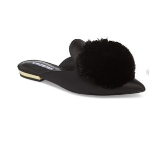 Loafer Mule w Poms Charles David. Like new!